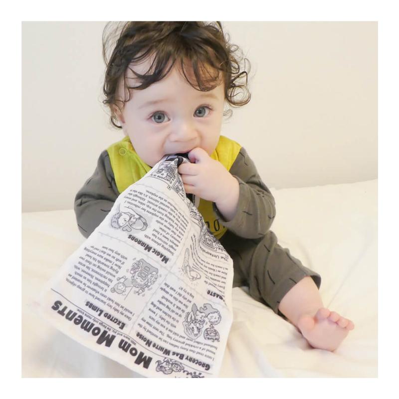 Čežantis Brain Builders neplyštantis laikraštis Kūdikių žinios Baby Newspaper