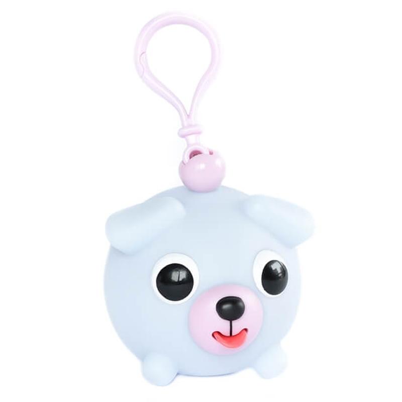 Žaislas-pakabukas šuniukas melsvas