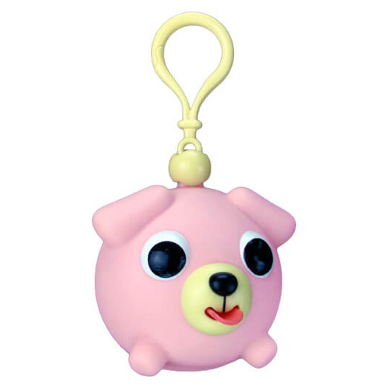 Žaislas-pakabukas šuniukas rožinis