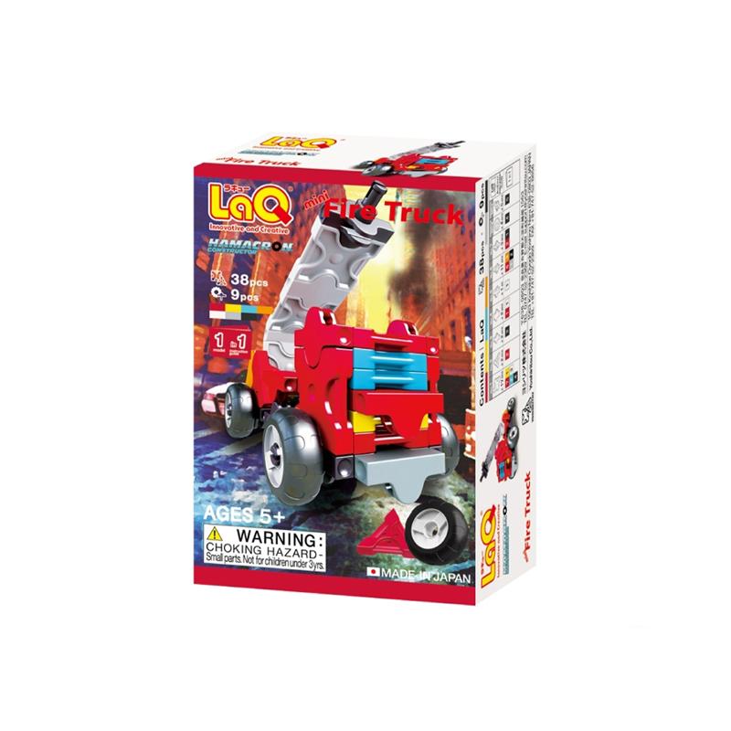 Japoniškas edukacinis konstruktorius LaQ Hamacron Constructor Mini Fire Truck