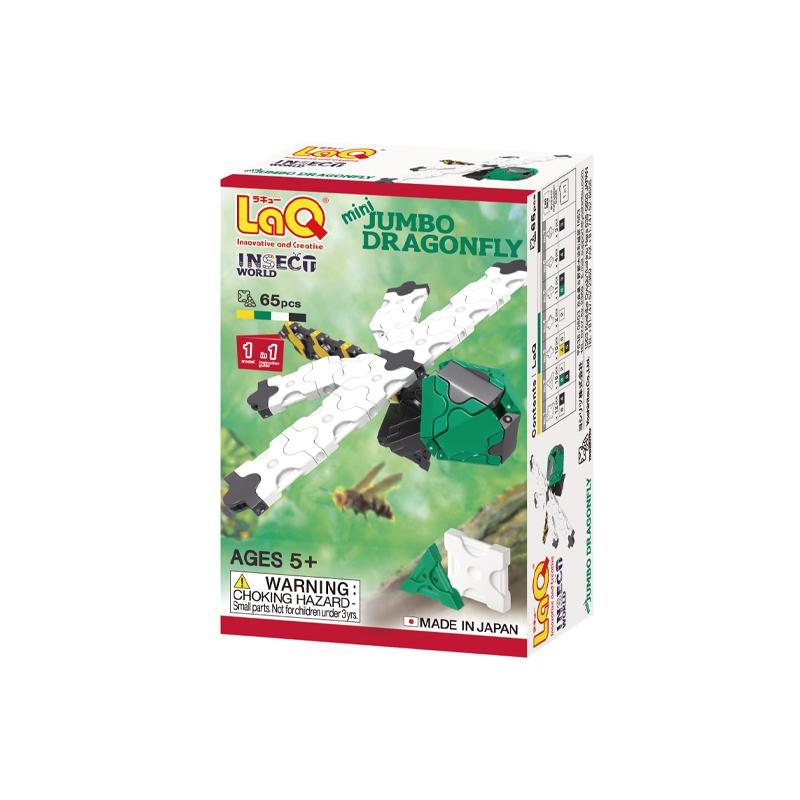 Japoniškas edukacinis konstruktorius LaQ Insect World Mini Jumbo Dragonfly