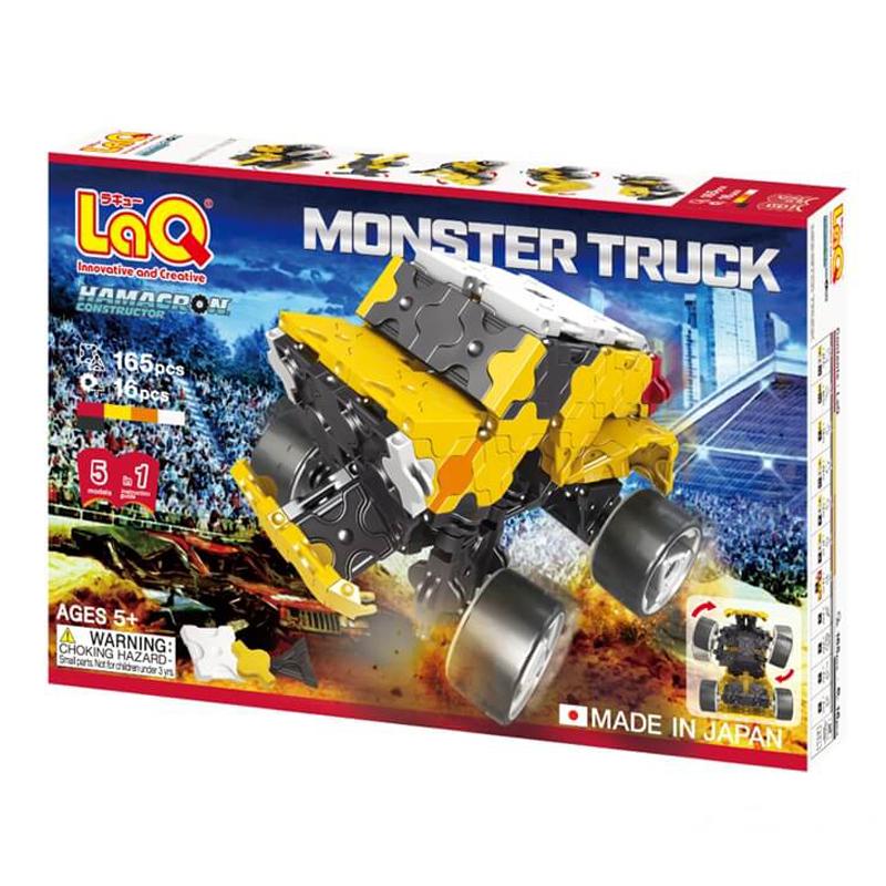Japoniškas edukacinis konstruktorius LaQ Hamacron Constructor Monster Truck