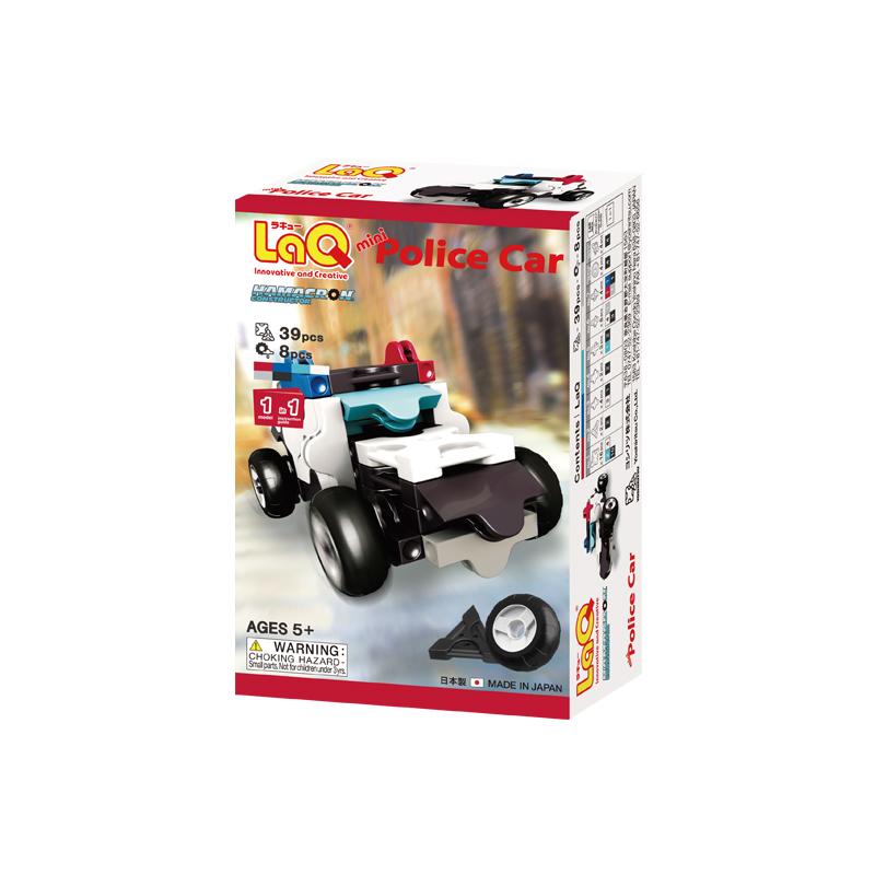 Japoniškas edukacinis konstruktorius LaQ Hamacron Constructor Mini Police Car