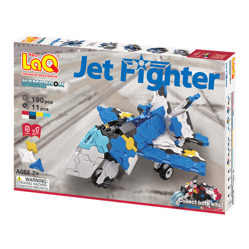Japoniškas edukacinis konstruktorius LaQ Hamacron Constructor Jet Fighter