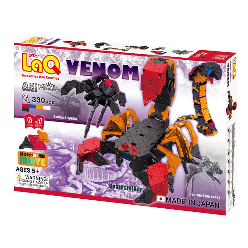 Japoniškas edukacinis konstruktorius LaQ Animal World Venom