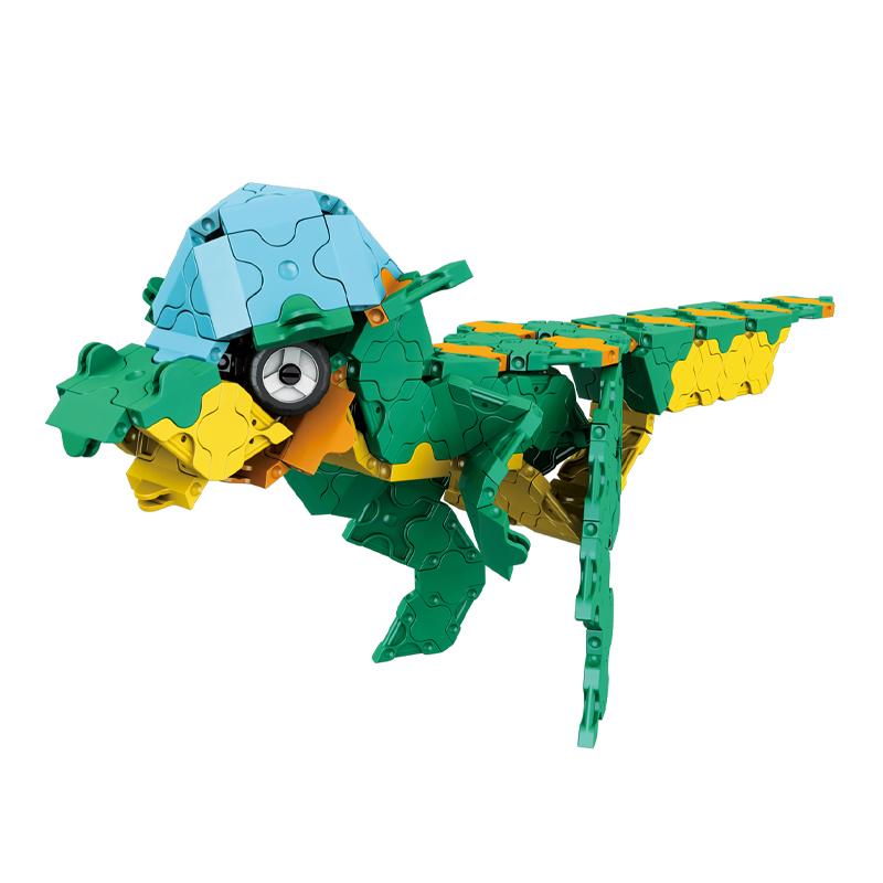 Japoniškas edukacinis konstruktorius LaQ Dinosaur World Dino Kingdom