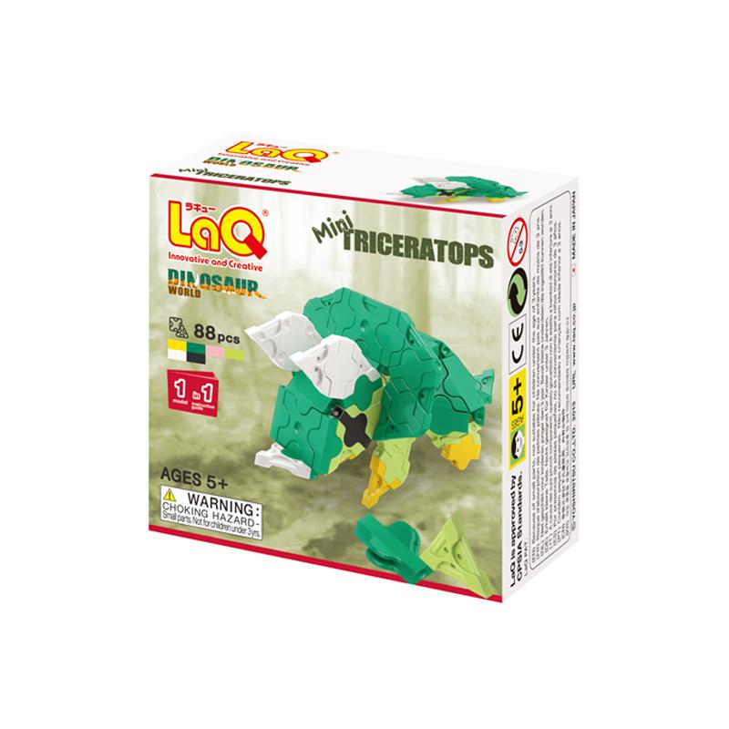 Japoniškas edukacinis konstruktorius LaQ Dinosaur World Mini Triceratops