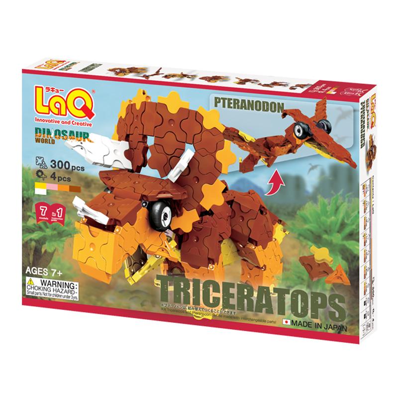 Japoniškas edukacinis konstruktorius LaQ Dinosaur World Triceratops and Pteranodon