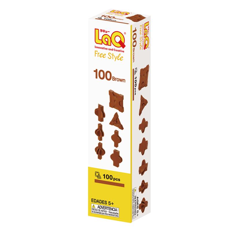 Japoniškas edukacinis konstruktorius LaQ Free Style 100 Brown
