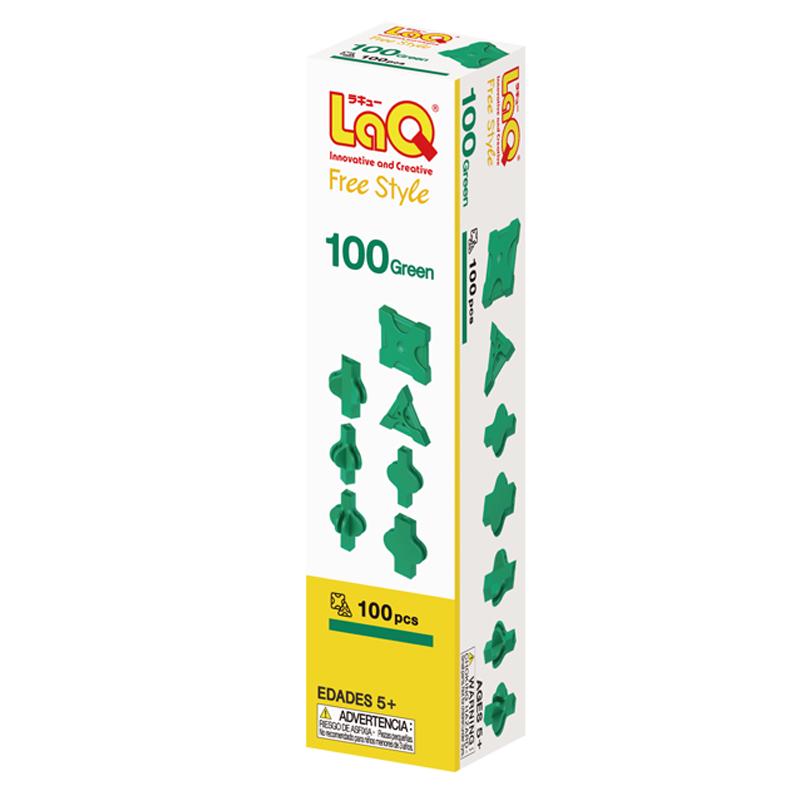 Japoniškas edukacinis konstruktorius LaQ Free Style 100 Green