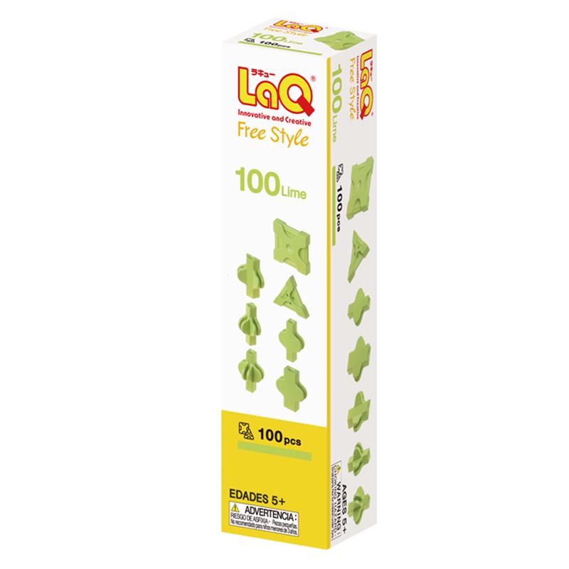 Japoniškas edukacinis konstruktorius LaQ Free Style 100 Lime
