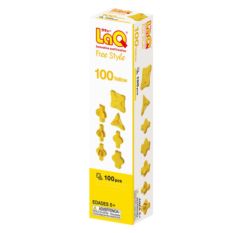Japoniškas edukacinis konstruktorius LaQ Free Style 100 Yellow