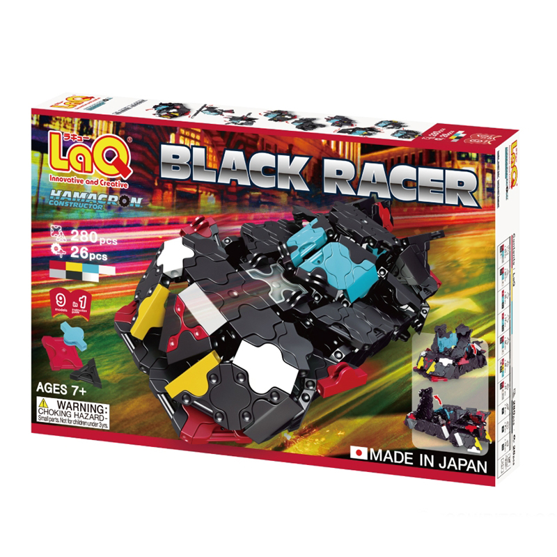 Japoniškas edukacinis konstruktorius LaQ Hamacron Constructor Black Racer