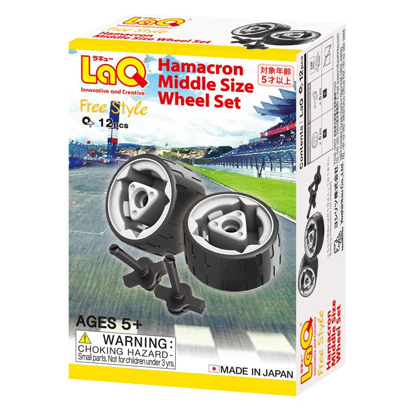 Japoniškas edukacinis konstruktorius LaQ Hamacron Midi Size Wheel Set