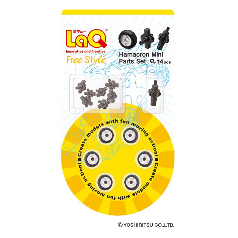 Japoniškas edukacinis konstruktorius LaQ Hamacron Mini Size Wheel Set