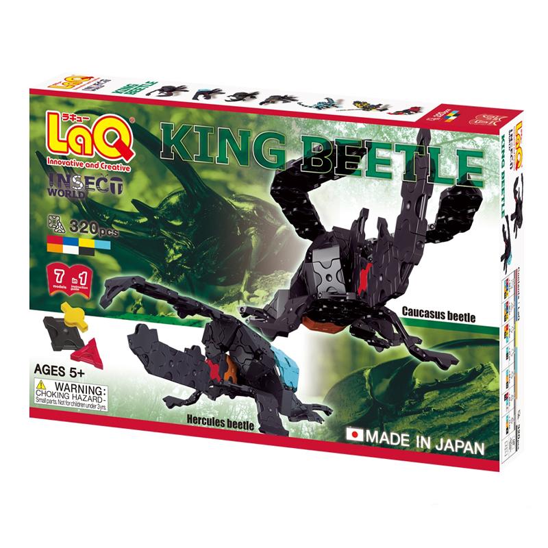 Japoniškas edukacinis konstruktorius LaQ Insect World King Beetle