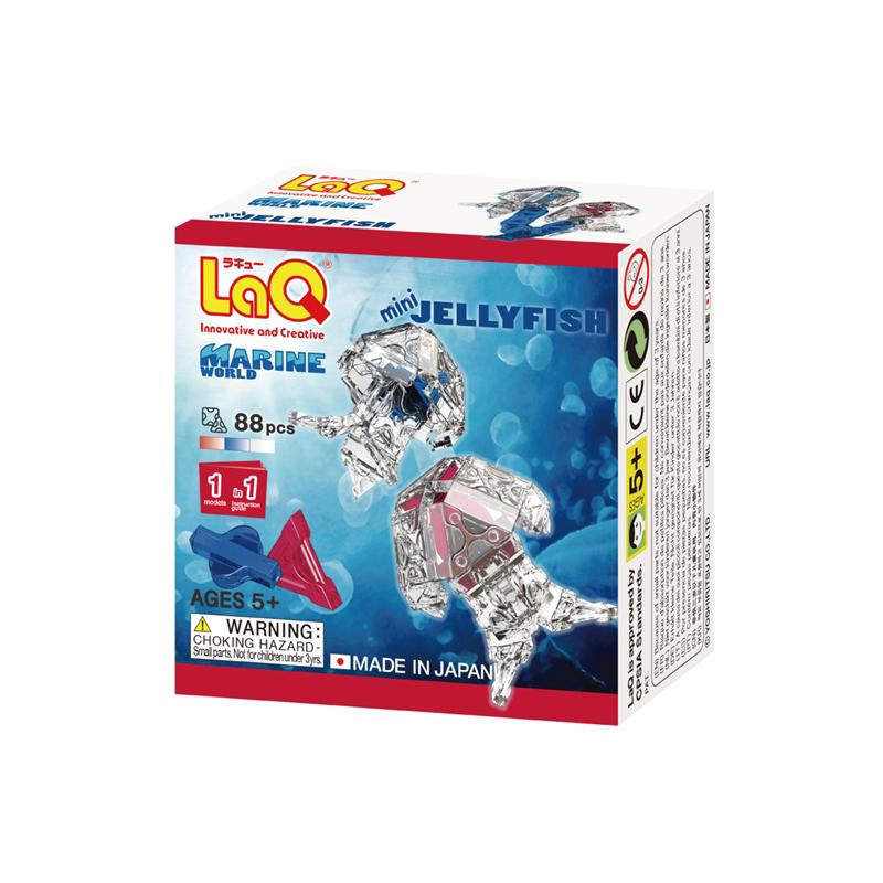 Japoniškas edukacinis konstruktorius LaQ Marine World Mini Jellyfish