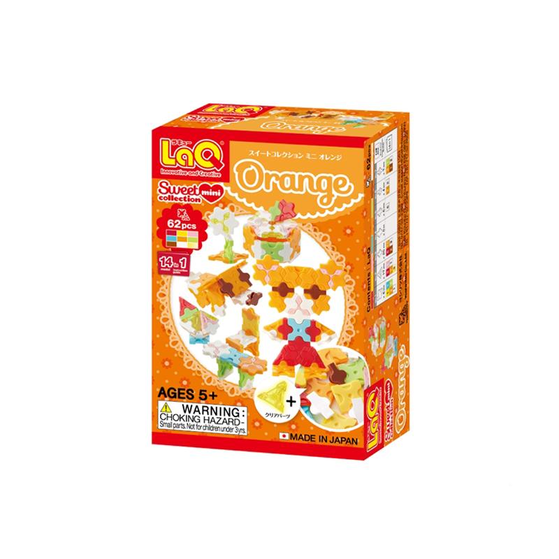 Japoniškas edukacinis konstruktorius LaQ Sweet Collection Mini Orange