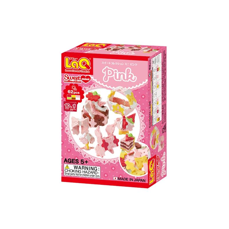Japoniškas edukacinis konstruktorius LaQ Sweet Collection Mini Pink