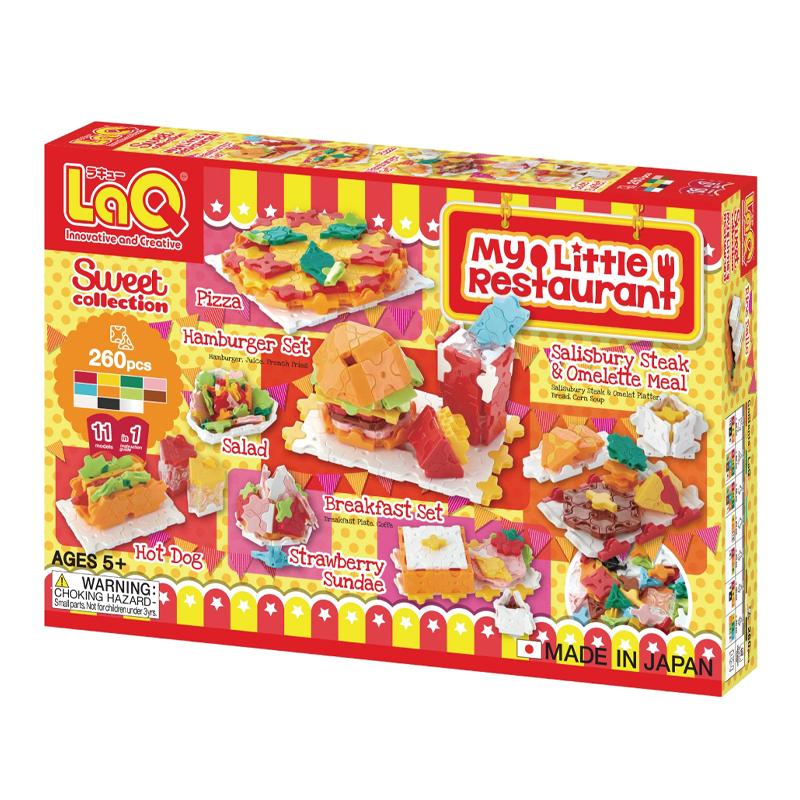 Japoniškas edukacinis konstruktorius LaQ Sweet Collection My Little Restaurant