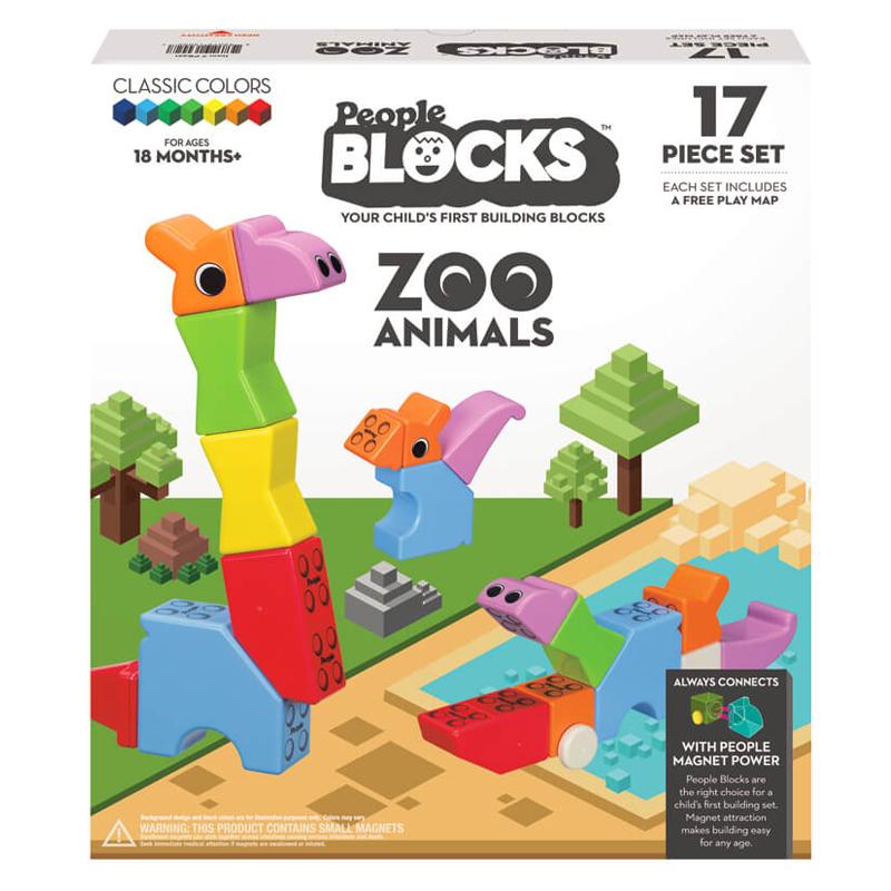 Magnetinis konstruktorius People Blocks Zoo Animals