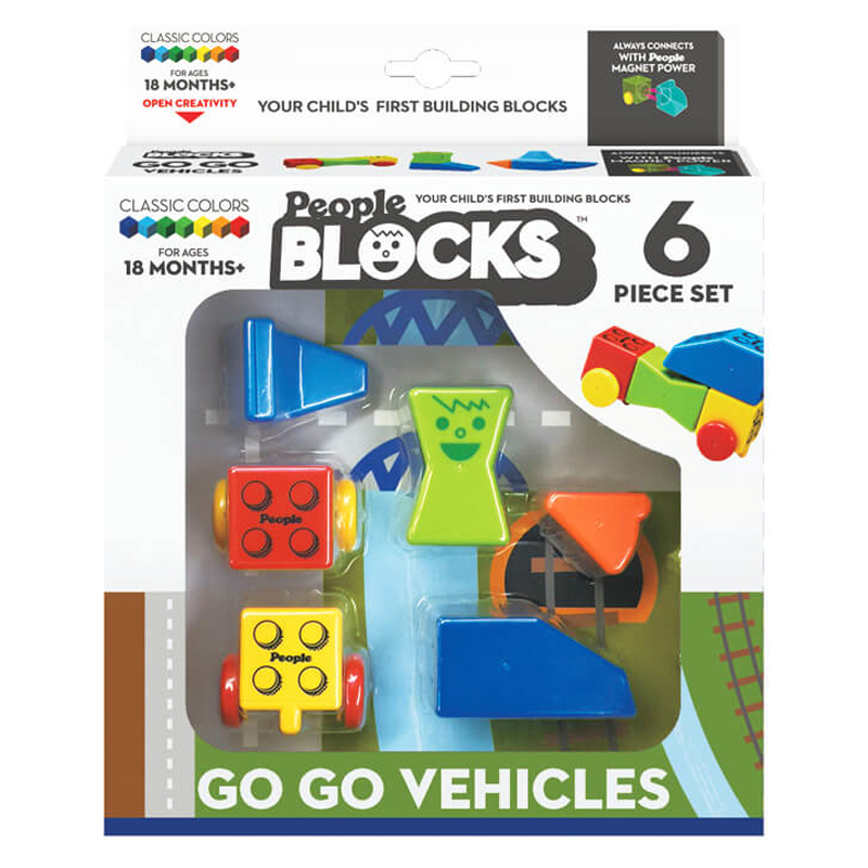 Magnetinis konstruktorius People Blocks Go Go Vehicle