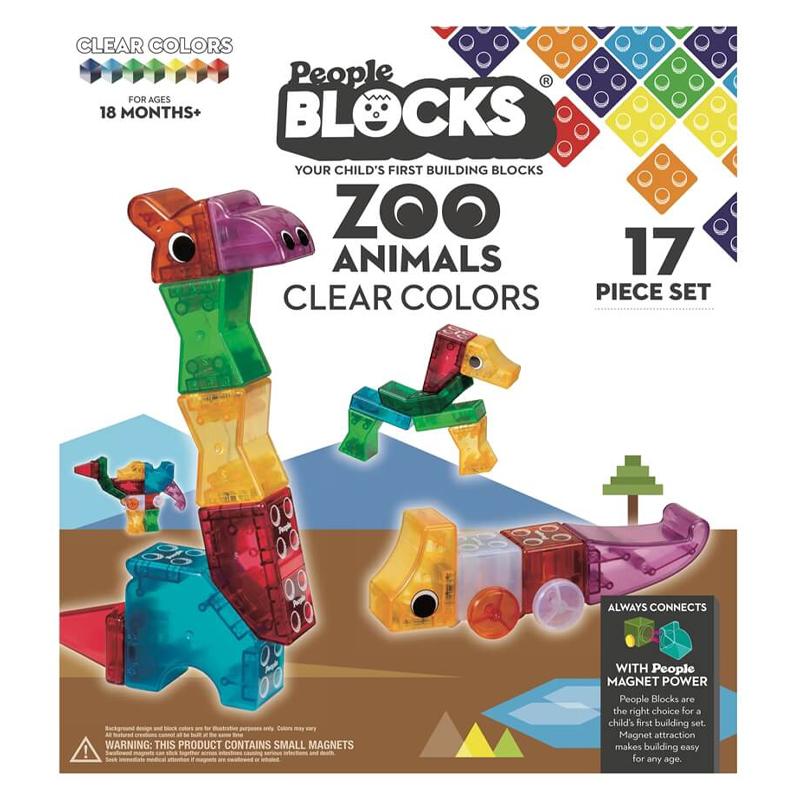 Magnetinis konstruktorius People Blocks Zoo