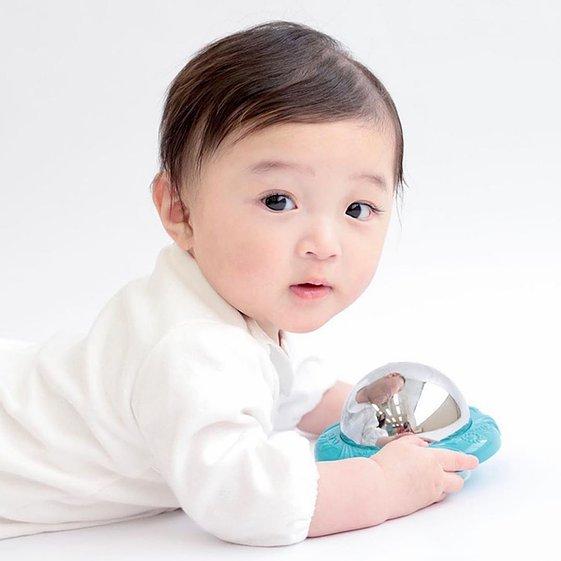 žaislai kūdikiams brain builders veidrodėlis