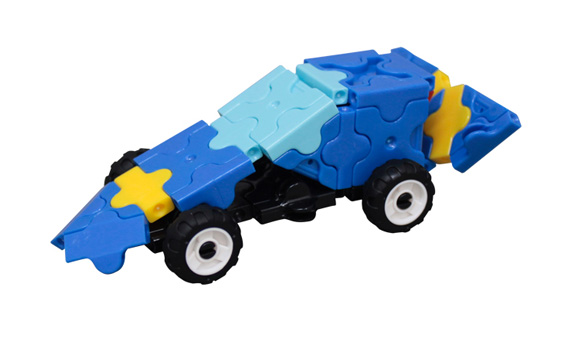 Japoniškas edukacinis konstruktorius LaQ Blue Mini Racer