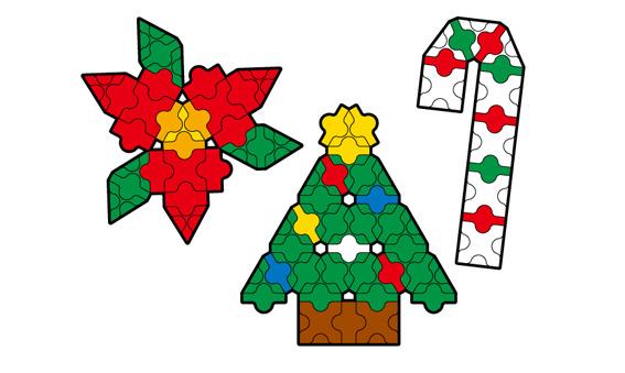 Japoniškas edukacinis konstruktorius LaQ Christmas Ornaments