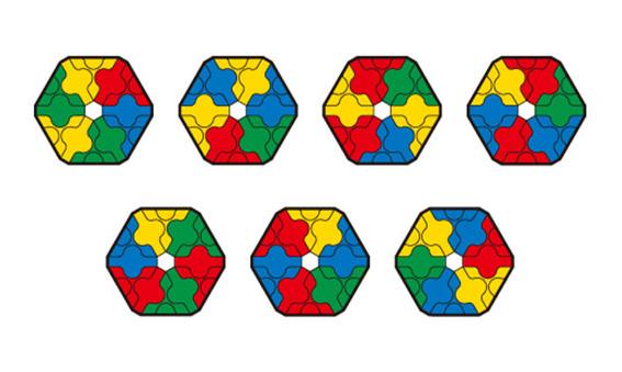 Japoniškas edukacinis konstruktorius LaQ Color Matching Puzzle