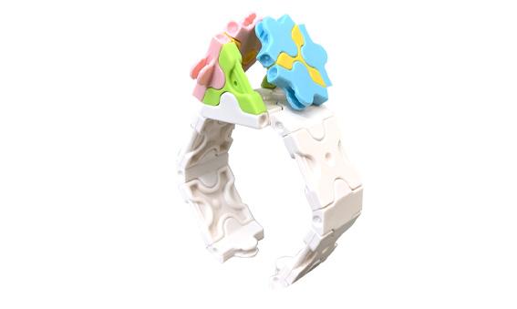 Japoniškas edukacinis konstruktorius LaQ Flower Bracelet