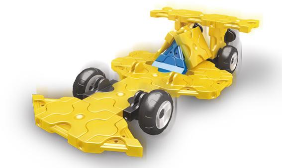 Japoniškas edukacinis konstruktorius LaQ Yellow Mini Racer
