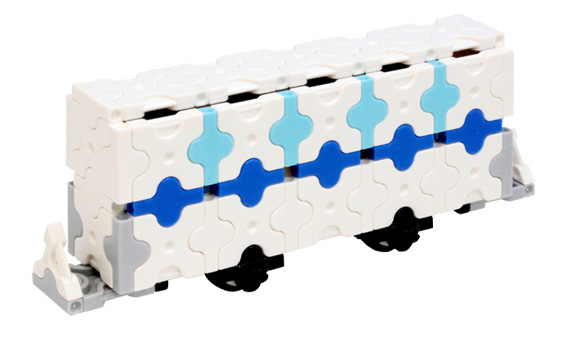 Japoniškas edukacinis konstruktorius LaQ Bullet Train Passenger Car