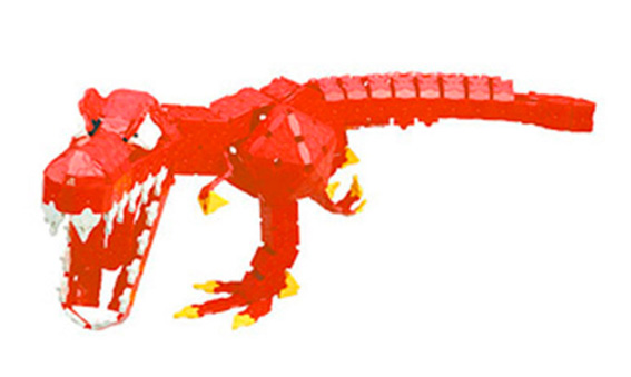 Japoniškas edukacinis konstruktorius LaQ T-Rex