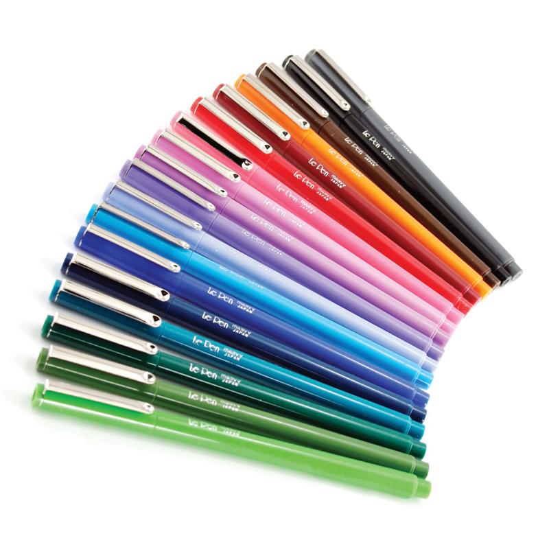 MARVY stilingas rašiklis plonu antgaliu Le Pen Black