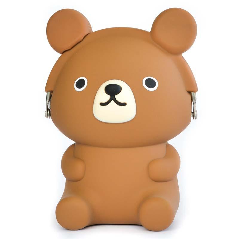 Japoniško dizaino silikoninė piniginė 3D Bear