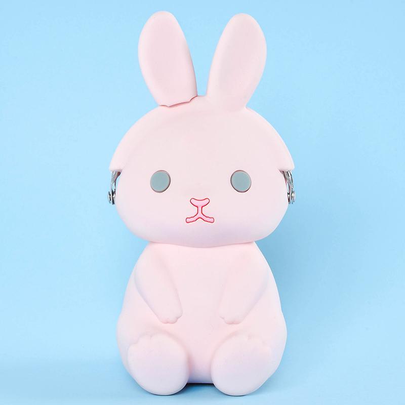 Japoniško dizaino silikoninė piniginė 3D Rabbit