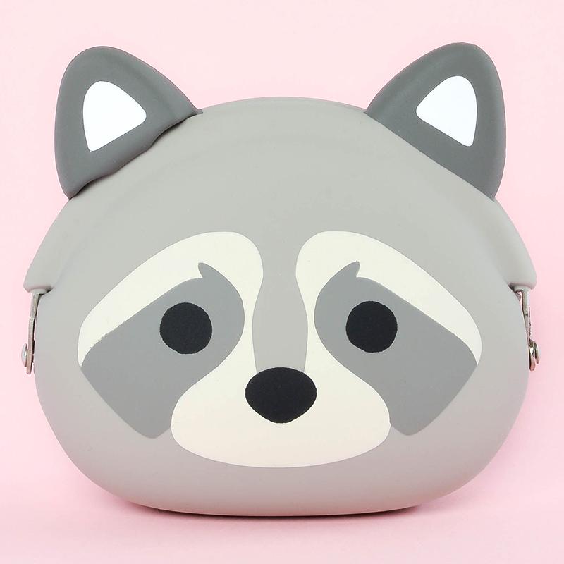 Japoniško dizaino silikoninė piniginė POCHI Friends Raccoon