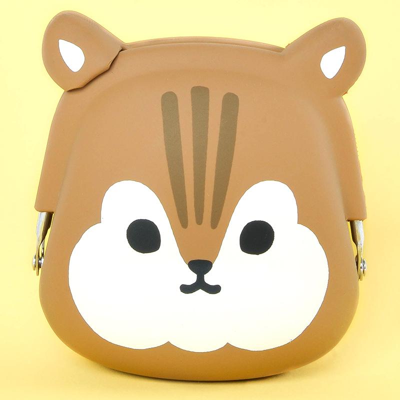 Japoniško dizaino silikoninė piniginė POCHI Friends Squirrel