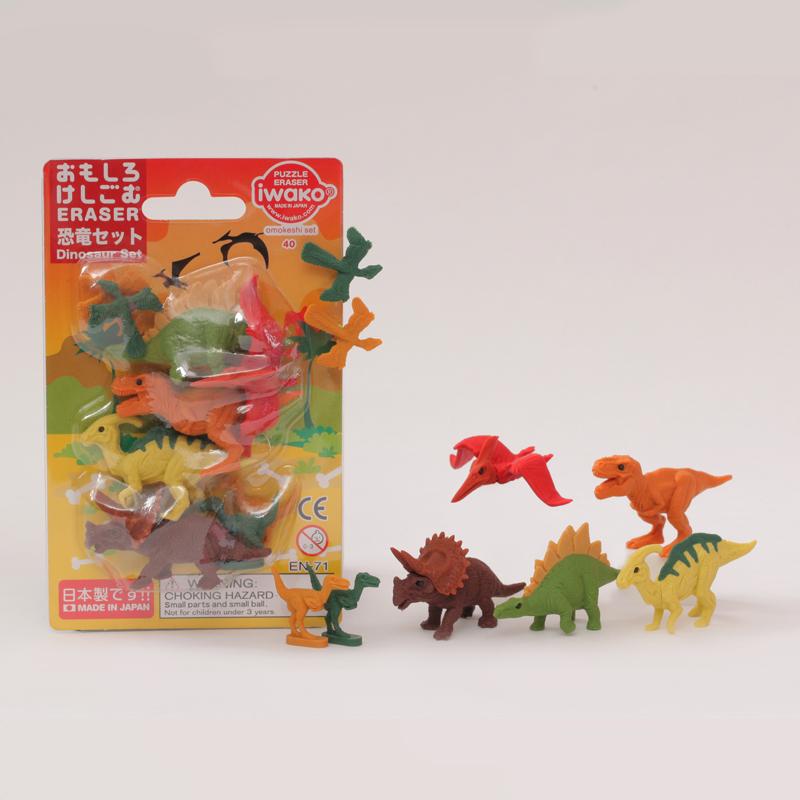 Japoniškų trintukų dėlionių IWAKO rinkinys Dinosaurs