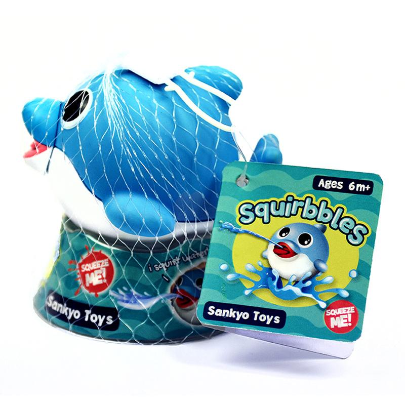 "Vonios žaislas ""Squirbbles"" Melsvas delfiniukas"