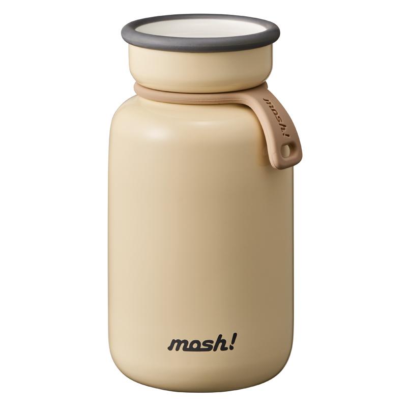 Nerūdijančio plieno retro stiliaus termosinė gertuvė Mosh Bottle Latte 330 ml Ivory