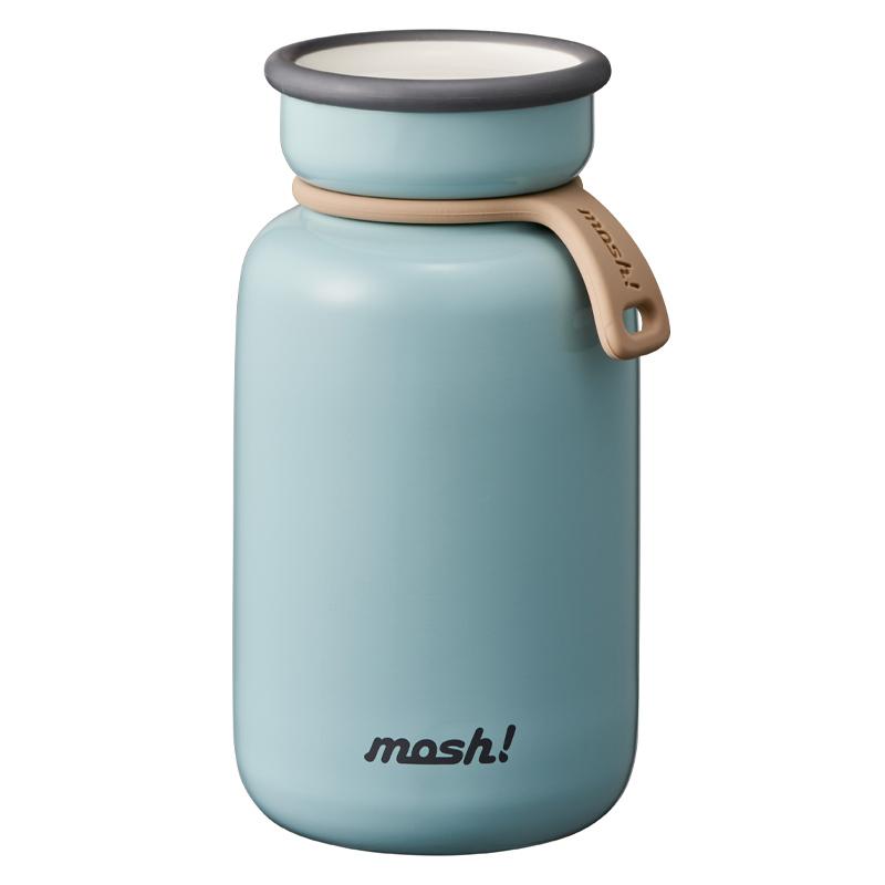 Nerūdijančio plieno retro stiliaus termosinė gertuvė Mosh Bottle Latte 330 ml Turquoise