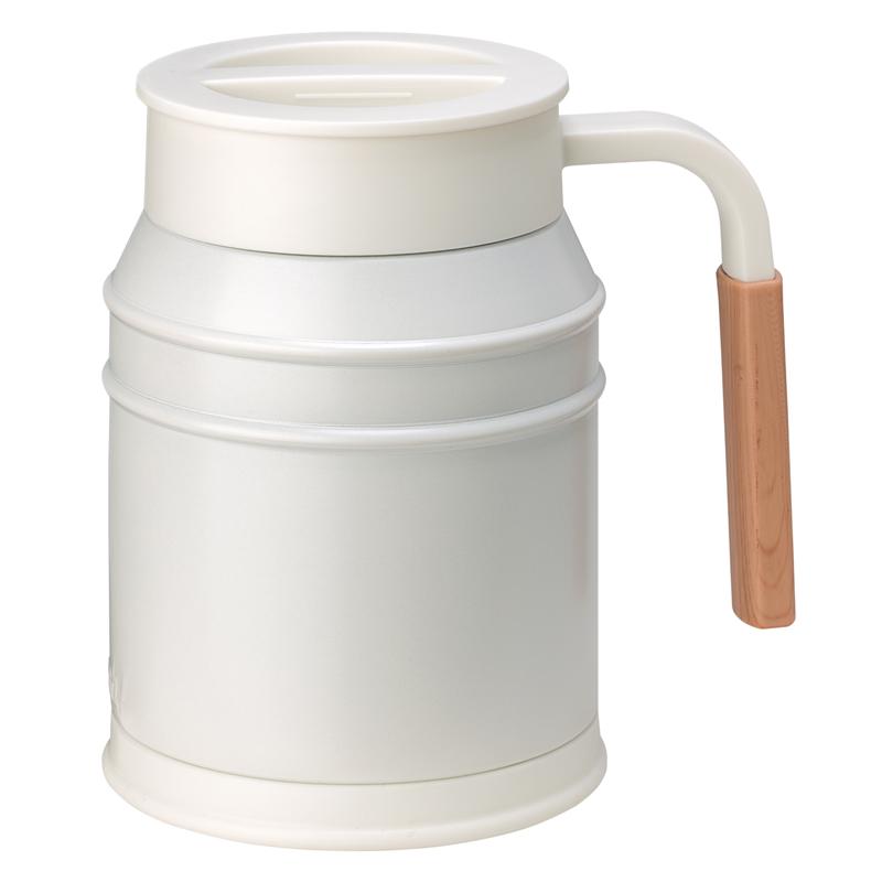 Nerūdijančio plieno termo puodelis su uždengiamu dangteliu Mosh Mug Cup 400 ml Ivory