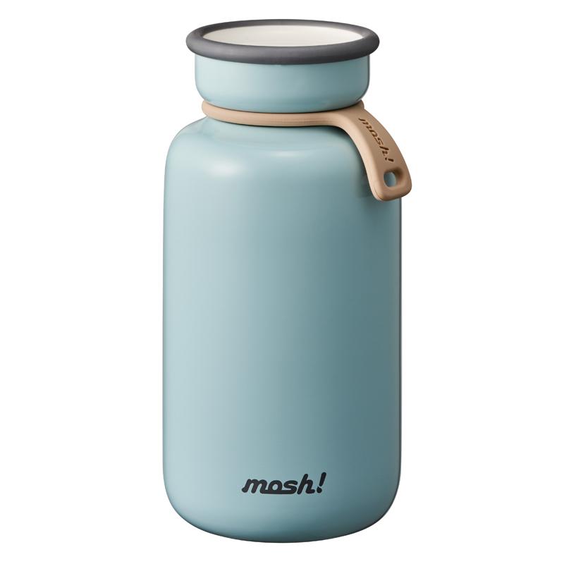 Nerūdijančio plieno retro stiliaus termosinė gertuvė Mosh BOTTLE LATTE 450 ml Turquoise