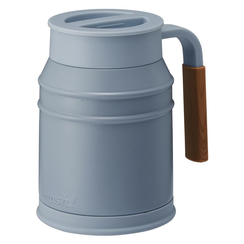 Nerūdijančio plieno termo puodelis su uždengiamu dangteliu Mosh Mug Cup 400 ml Turquoise
