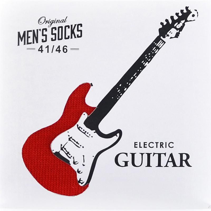 Japoniško dizaino vyriškos kojinės Sukeno Plus One Guitar Red