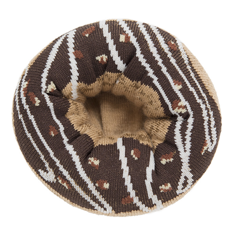 Japoniško dizaino vyriškos kojinės IJ MARSHAL Doughnut Chocolate Glazed