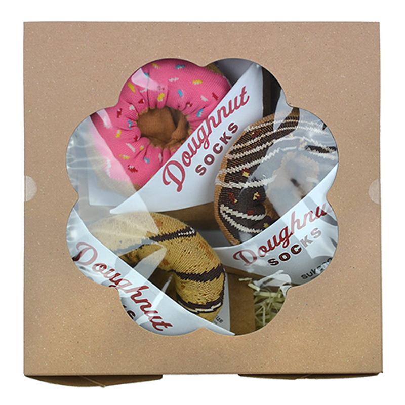 Kojinių rinkinys dovanų dėžutėje Gift Box Doughnut